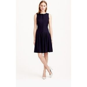 J.Crew Pleated A-line Dress Super 120s Wool